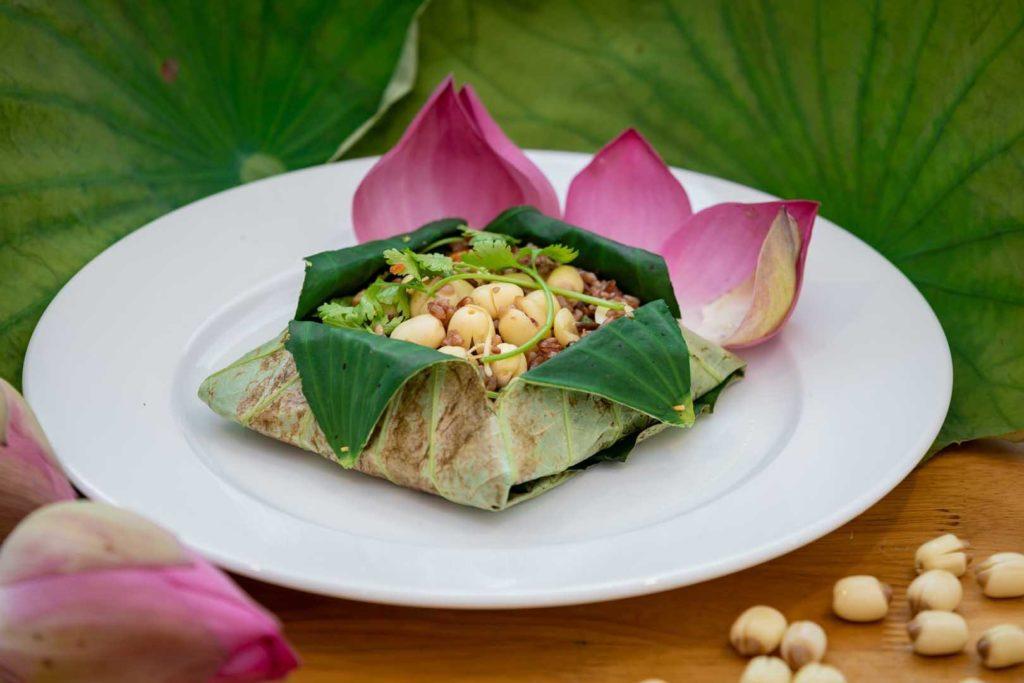 Nhà hàng ẩm thực chay Goodlife Vũng Tàu - Cơm chiên lá sen