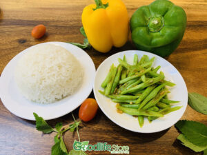 Cơm của Nhà hàng ẩm thực chay Goodlife được nấu từ gạo ST25