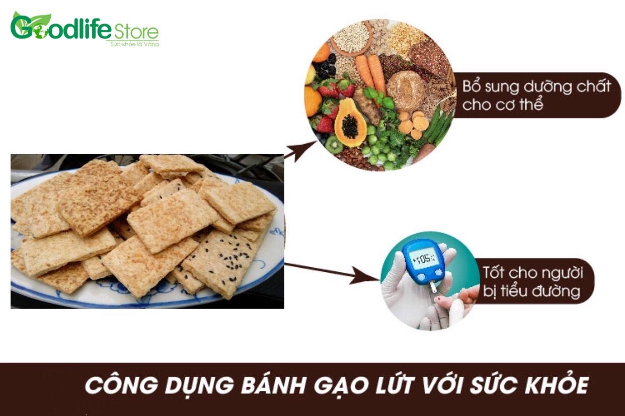 Bánh quy gạo lứt sự kết hợp của những loại ngũ cốc dinh dưỡng. Mang đến nhiều tác dụng tốt cho sức khỏe.