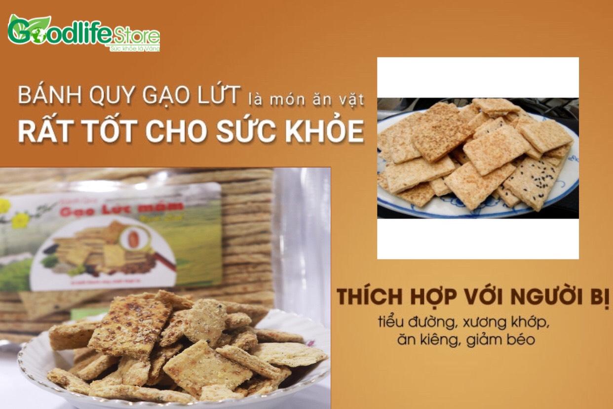 Bánh quy gạo lứt là món ăn vặt rất tốt cho sức khỏe