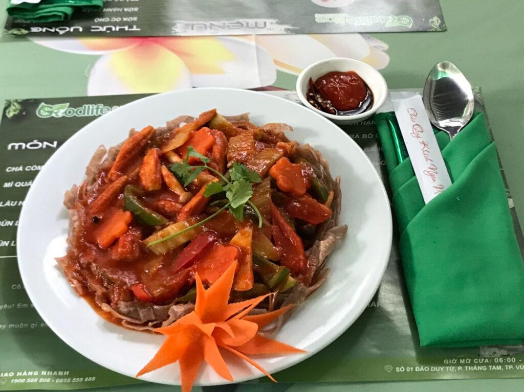món ăn tại nhà hàng chay Vũng Tàu Goodlife