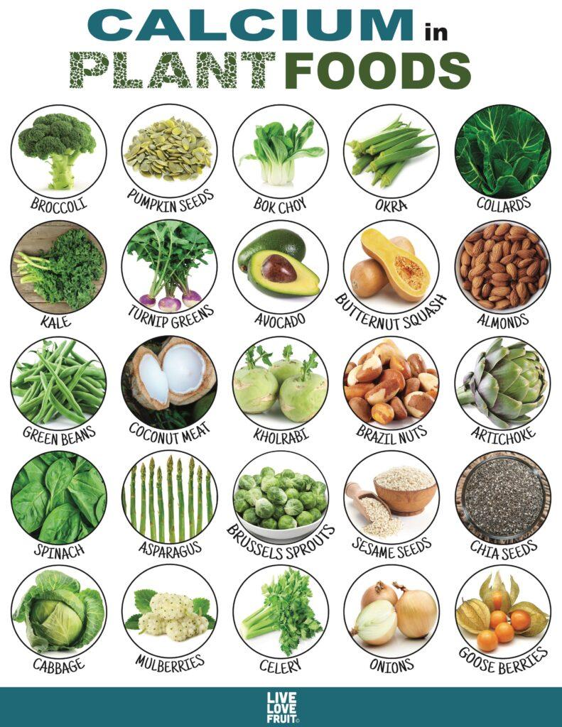 Các loại thực vật cung cấp nhiều canxi